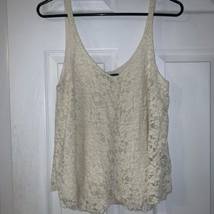American Eagle lace flowy tank top size S